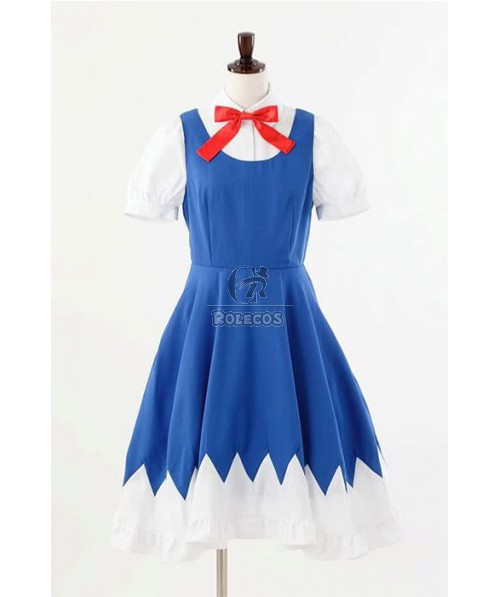 Touhou Project The Embodiment of Scarlet Devil Cirno Cosplay Costume