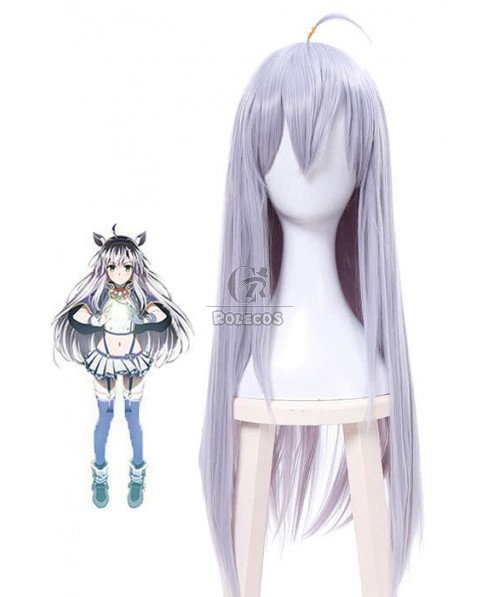 Akashic Records Of Bastard Magic Instructor Sistine Fibel Mixed Silver Long Straight Anime Cosplay Wigs