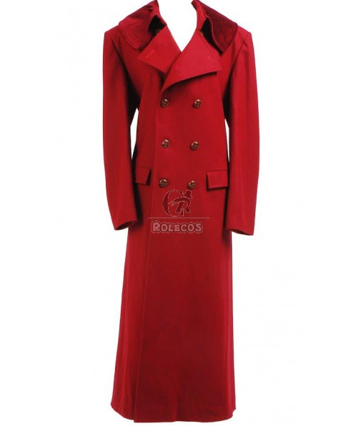 CosDaddy Cosplay Costume Red Long Trench Coat