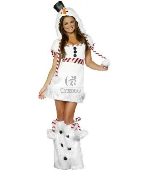 White Christmas costumes snowman uniforms penguin dress Sexy women