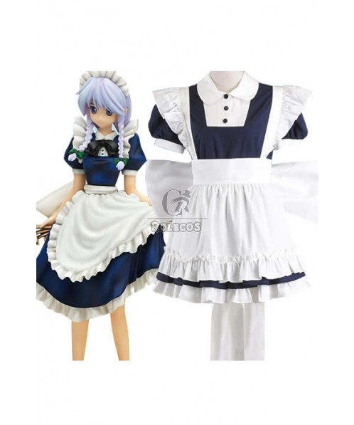 The Embodiment Of Scarlet Devil Cosplay Costume Izayoi Sakuya Apron Dress