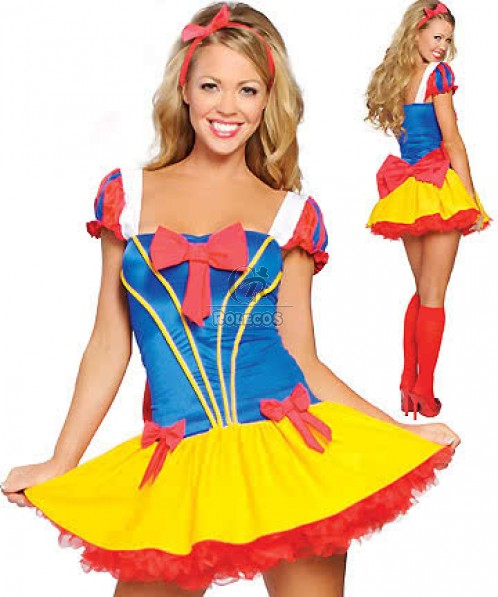 Sexy Princess Snow White Halloween Costume Fairy Tale Fancy Party Dress
