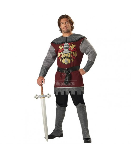 Halloween's Clothing Knight Gladiator Cosplay Costume Men Long Sleeve Warrior Uniform