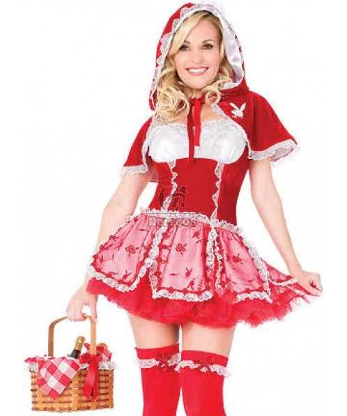 White and Little Red Riding Hood Halloween Customes for Funny Fashion Girl