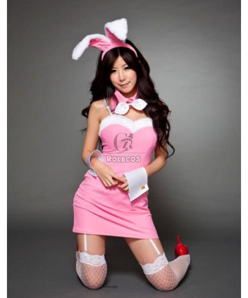 So amazing bunny girl costume very sexy dress two colors for choice