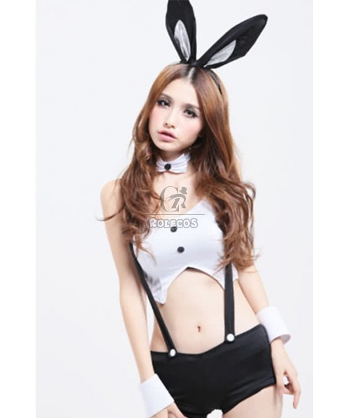 Fashion sexy bunny girl costumes with fancy classic design