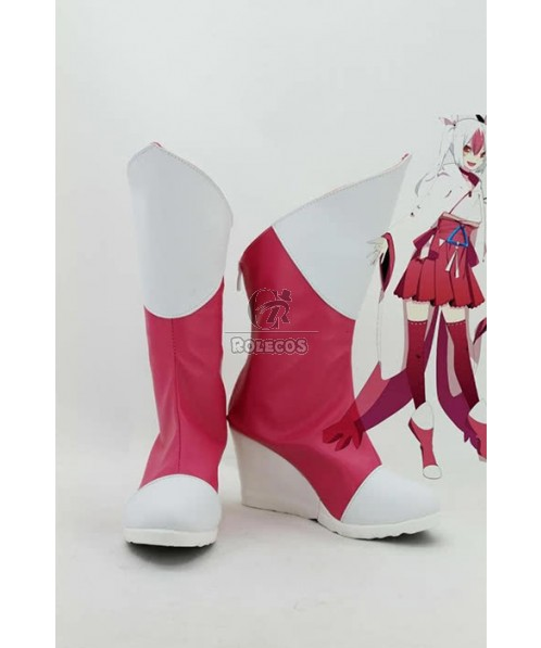 Pokemon Pocket Monster Anime Latias personate Cosplay Shoes Boots Red