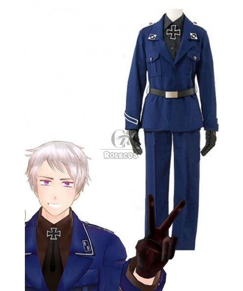 Axis Powers Hetalia Prussia APH Outfits Cosplay Costume