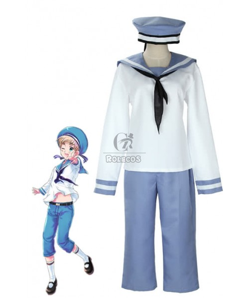 Axis Powers Hetalia Sealand Peter Kirkland Cosplay Costume