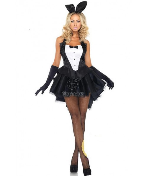 Lovely Bunny Suit Forked Tail Fancy Pub Party Uniform