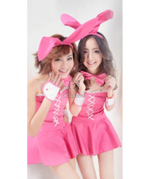 Sexy Lovely Bunny Christmas Party Uniform Cosplay Costume