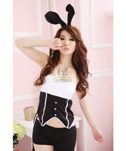 Sexy Bunny Halloween Pub Party Evening Show Cosplay Costume