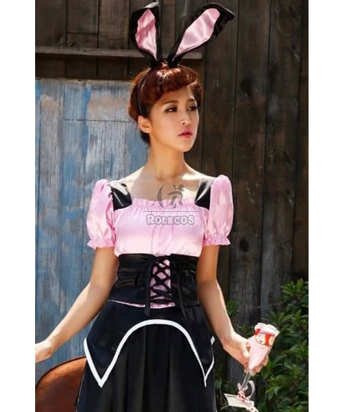 Bunny Party Pretty Two Different Colors Hollowen Cosplay Costumes