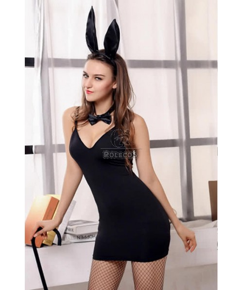 Hollowen Bunny Party Sexy Black Cosplay Costumes