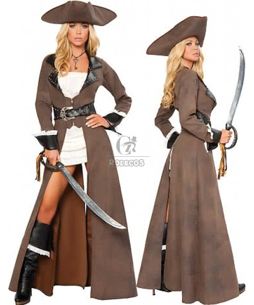 New Arrival Pirates Halloween Costumes Of The Caribbean Horsewoman Cosplay