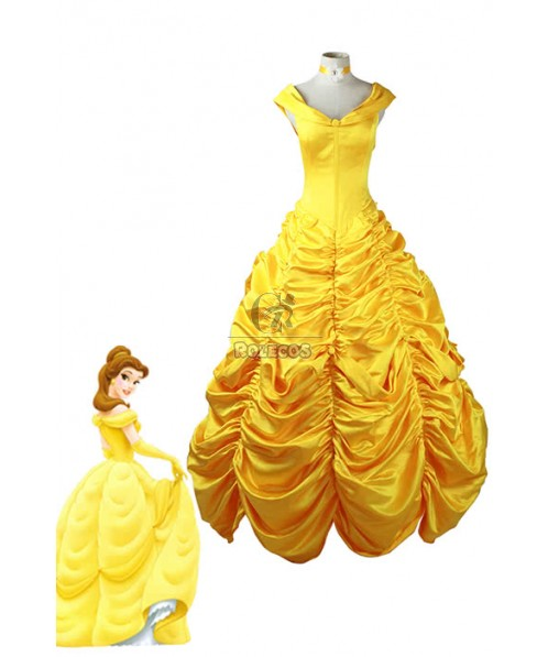 Beauty And The Beas The Enchanted Christmas Cosplay Costumes Yellow