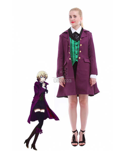 Black Butler Ⅱ Purple Anime Cosplay Costume of Alois Trancy Clothes