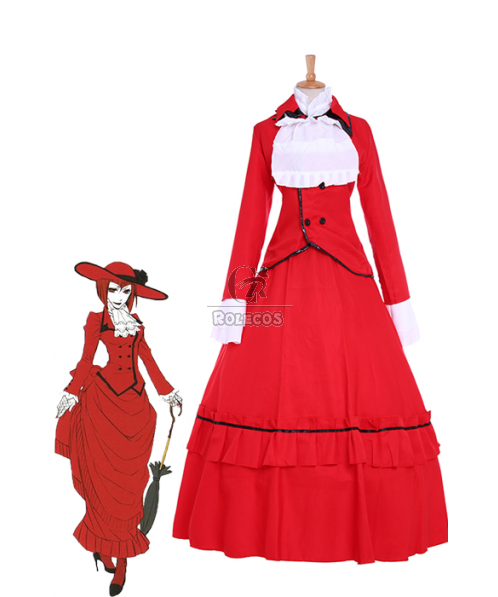 "Black Butler Angelina Dulles ""Madame Red"" Cosplay Costumes"