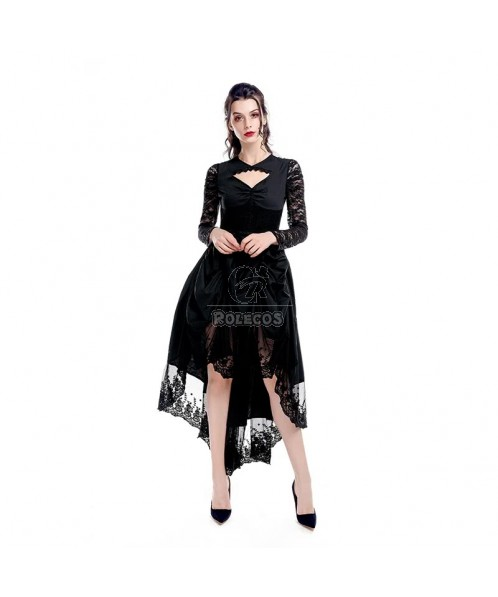 Black Sexy Gothic Victorian Dress Cosplay Costumes