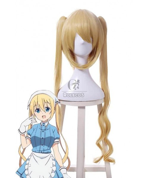 Anime Blend S Kaho Hinata Wigs Cosplay Long Yellow Curly Synthetic Hair
