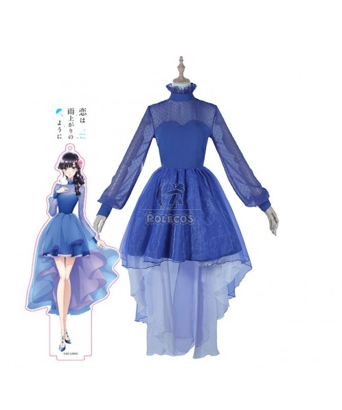 Aniplex AnimeJapan 2018 Blue Japanese Koi Wa Ameagari No Youni Anime Cosplay Costume