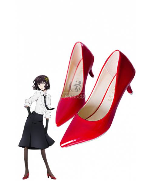 Bungou Stray Dogs Akiko Yosano Armed Detective Agency Cosplay Shoes Red Shoes