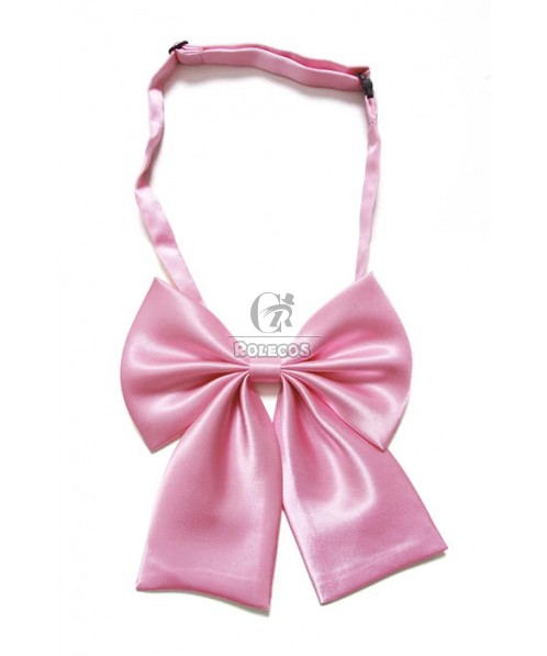 Pink Big Bow Tie Lovely And Nice For Cosplay