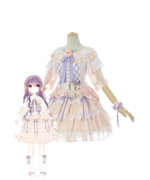 Cardcaptor Sakura Clear Card-hen Tomoyo Daidouji Anime Cosplay Costumes Cute Girl Dresses
