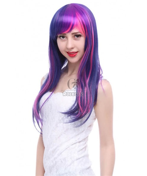 Mixed Color My Little Pony Twilight Sparkle Cosplay Party Wigs