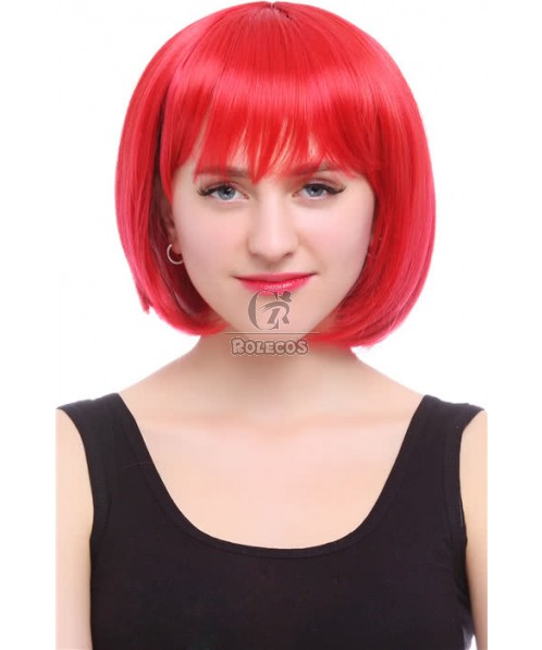 Fashion Short Red BOB Wig  Straight Wig