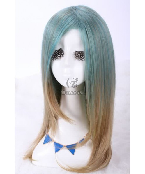 NEW Mar.60cm long mix color straight Anime women fashion cosplay hair wig