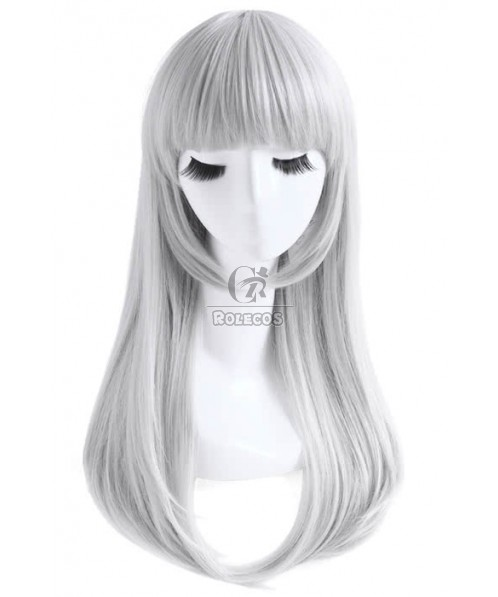 65cm Sliver Gray Long Straight Cosplay Wig