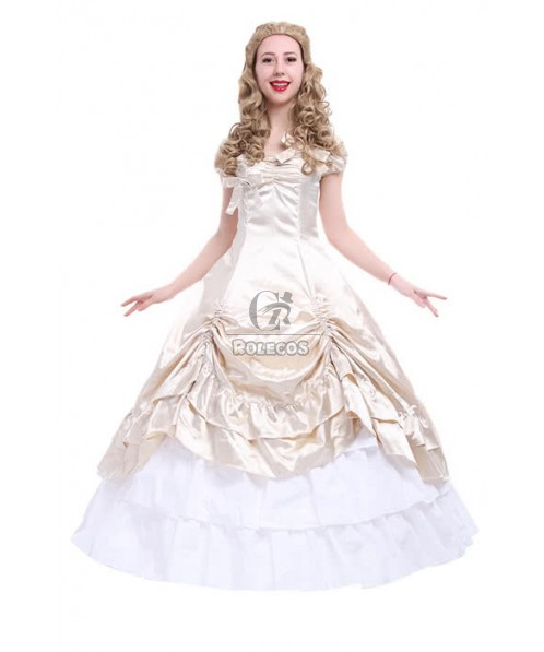 Champagne Victoria Lolita Princess Formal Party Dress Cosplay