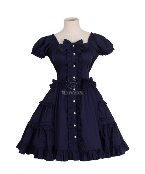 Lolita Princess Dress For Ladies With Short Sleeves Summer