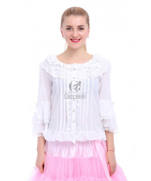 White And Black Color Sweet Lolita dress Lovely Collect Waist Changeable Joint Suit