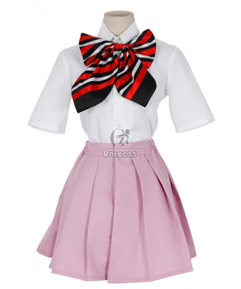 Ao No Blue Exorcist Shiemi Moriyama Cosplay Costume Shirt And Skirt