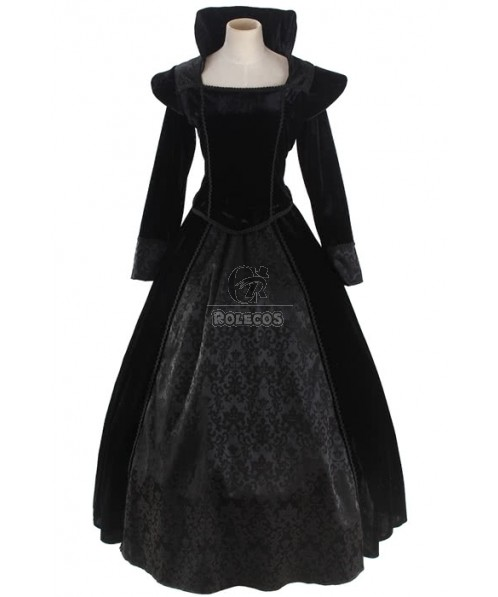 Black Sexy Gothic Victorian Dress Cosplay Costume