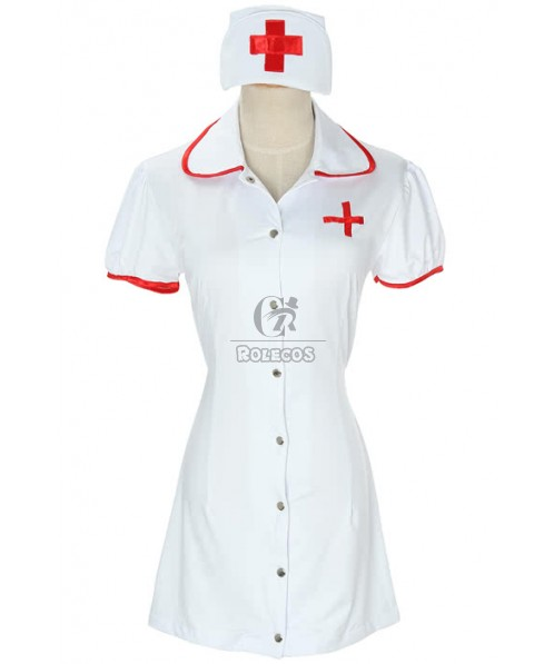 Hot Sexy White Nurse Cosplay Costume with for Adult Women Fashion Outfit