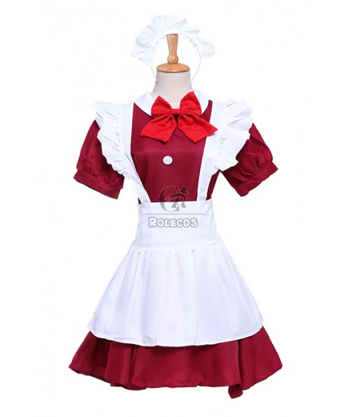 Japanese Coffee House Waitress Cosplay Costume