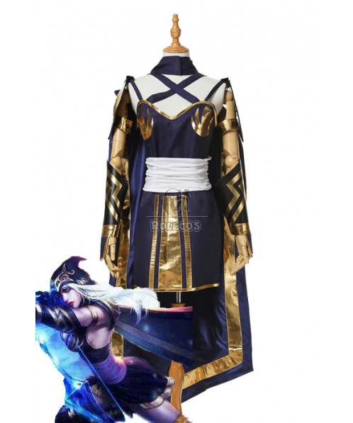 LOL Game Ice Shooter Ashe Women Cosplay Costume