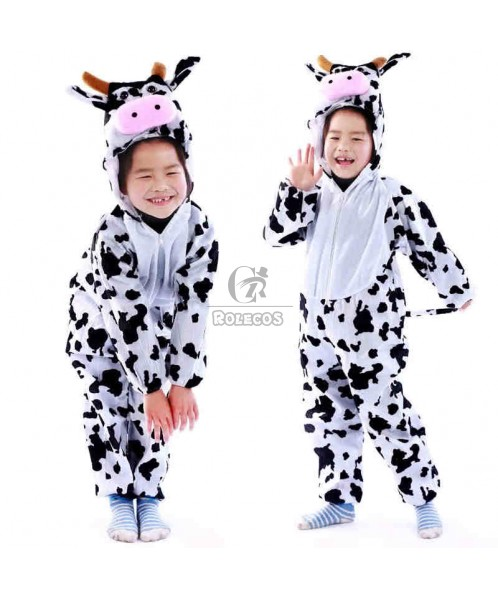 Cute Children's Halloween Party Costume Animal Cartoon Cow Suit