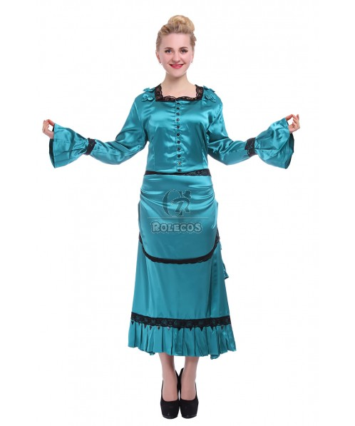 Women Royal Vintage Long Prom Gowns Evening Dresses Cosplay Costumes