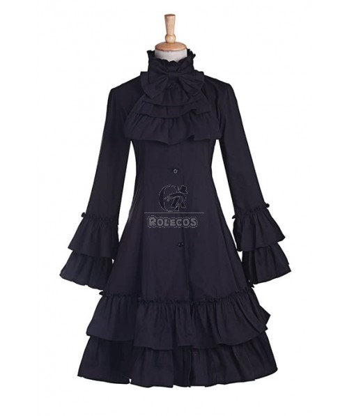 Sweet Love Cute Grey Short Dress With Bowknot Lolita Cosplay Costumes