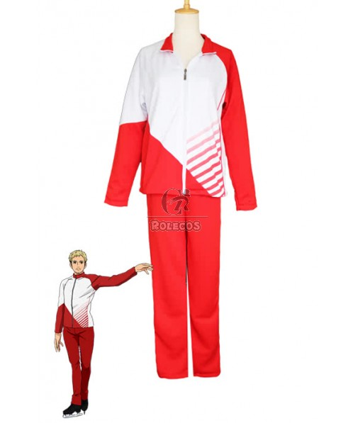 Yuri on Ice Christophe Giacometti Cosplay Costumes Sportswear Suits