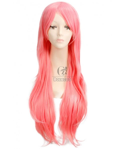 80cm long pink New luka straight fashion women cosplay synthetic hair wig