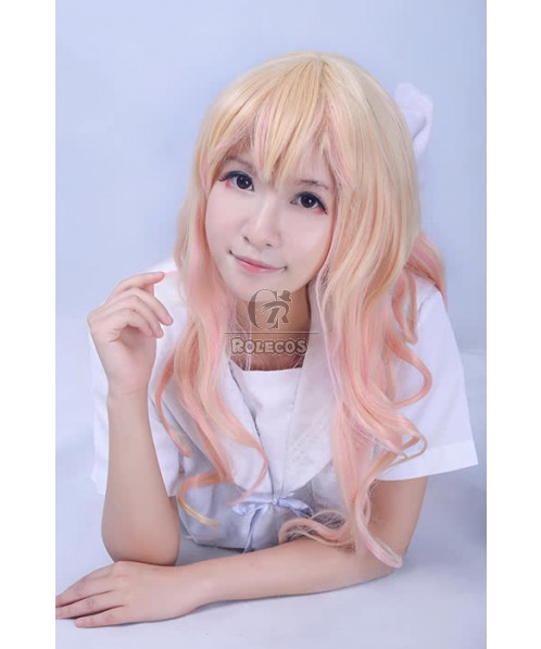 Cosplay Wigs Mixed Color Shade Sweet Long Curly Wigs