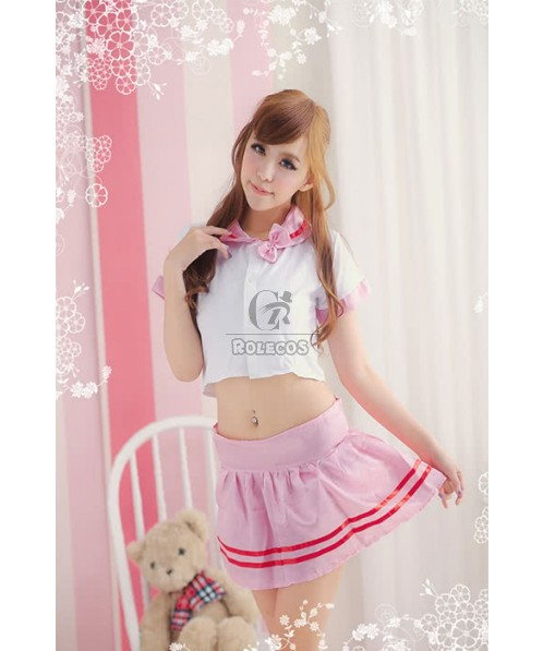 Cute Cheerleaders Costumes Student Uniforms Temptation