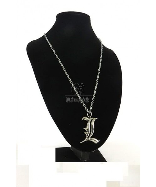 Death Note Silver Letter L Lawliet Kira Cosplay Necklace Alloy Pendant