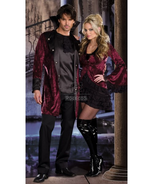 Sexy Vampire Midnight  Halloween Costume Couple mistress seductive Dress