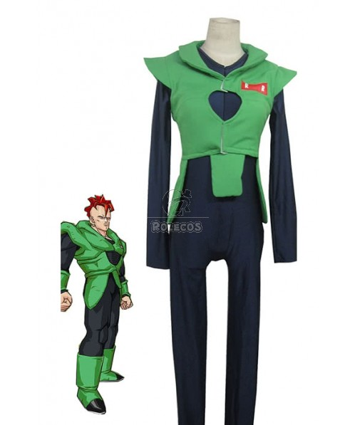 Dragonball Z Android No.16 Cosplay Costume